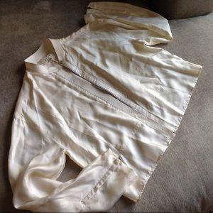 Gorgeous zip up Creme rag & bone jacket blouse XS